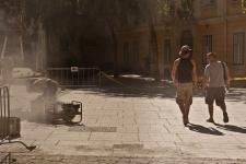 az egykori római fórum díszburkolata